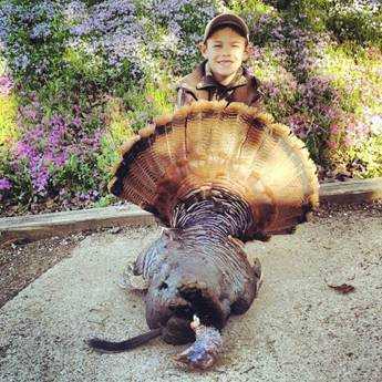 Eight-year-old Tristen Scott, aka Turkey Slayer, Youth Day 2013