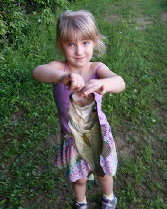 Four-Year-Old CalliAnn shows off her big catch.
