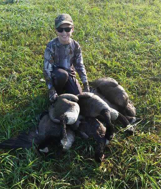Devin enjoying the last day of early goose season.