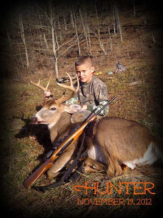 10 yr old, Hunter Huffman harvested his buck on November 19, 2012 - opening day of deer season.
