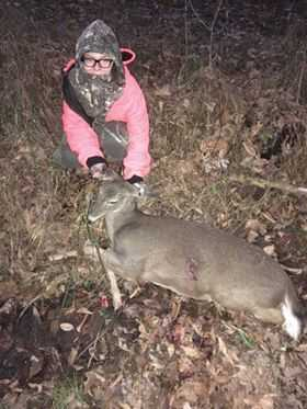 10 year old McKenna from Birch River with her first deer.