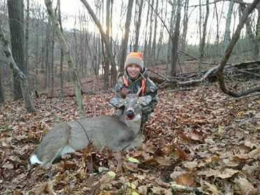 Nathan of St. Albans with his first buck!