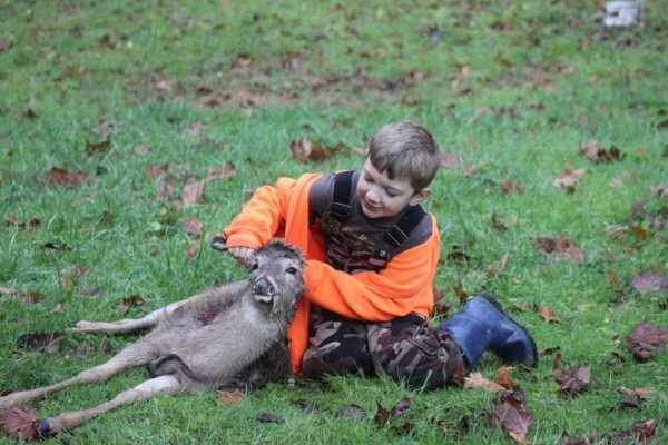 Ryan killed his first deer with his Grandpa Ronnie in Ashford, WV. Ryan is 8 years old and is in Third Grade at Brookview Elementary School in Foster,WV