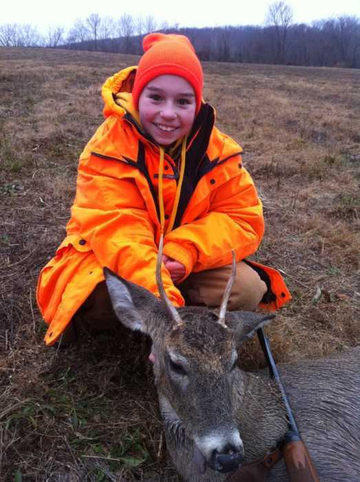 Taylor Bohan is 12 and harvested this one in Washington, WV. She used a .243
