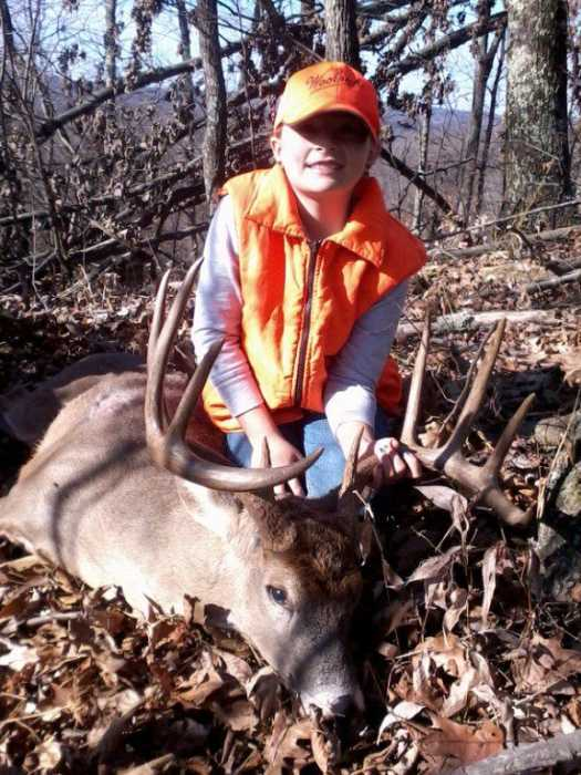 Taylor Moore of Sandyville, WV, harvested her first buck!